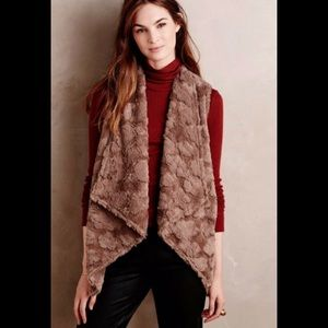 Anthropologie elevense size small open fur vest